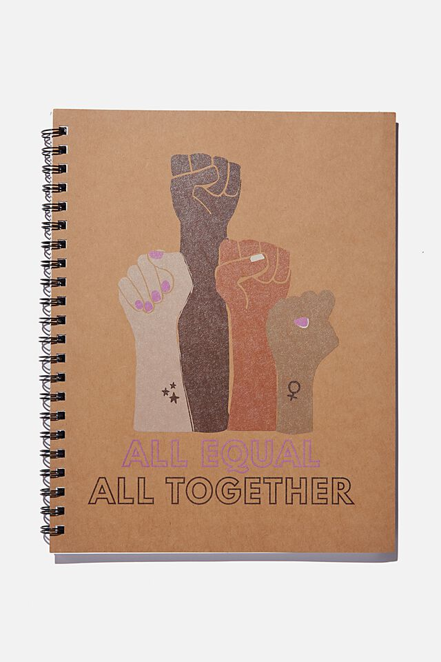 A4 Campus Notebook Recycled, ALL TOGETHER FISTS