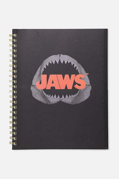 A4 Campus Notebook - 240 Pages, LCN JAWS RED & BLACK
