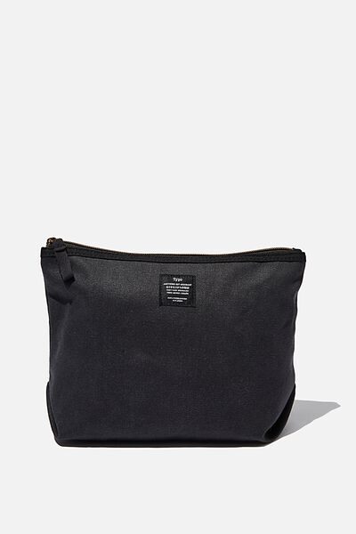 Canvas Travel Pouch, WASHED BLACK