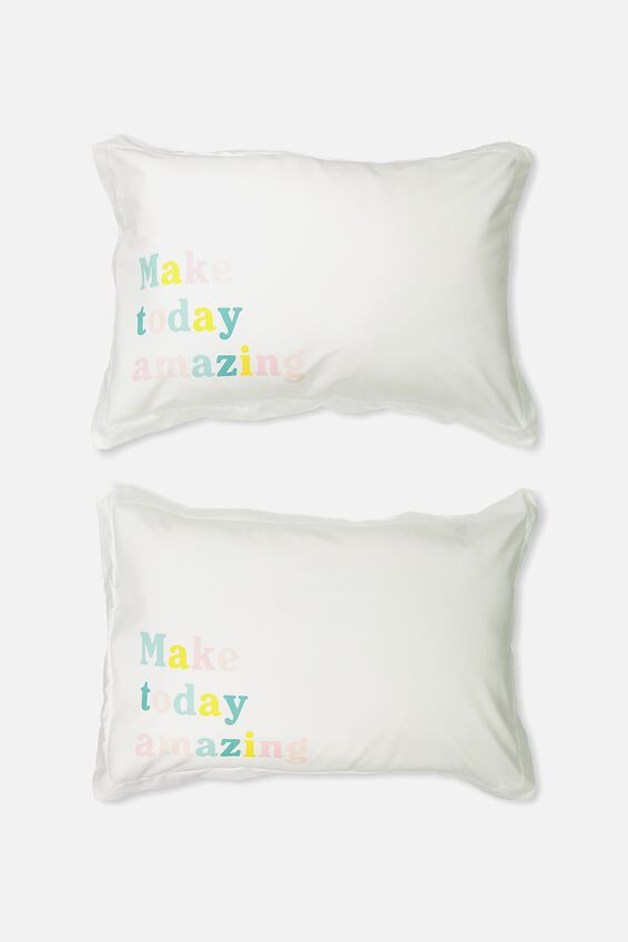Standard Pillow Case Set, MAKE TODAY AMAZING
