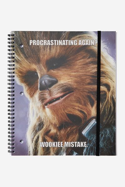 College Ruled Spinout Notebook V, LCN LU CHEWY WOOKIE MISTAKE