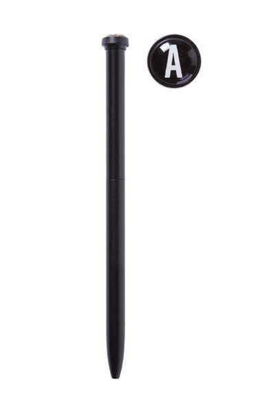 Initial Ballpoint Pen, BLACK A