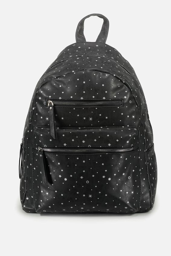 Campus Backpack, BLACK WITH STARS