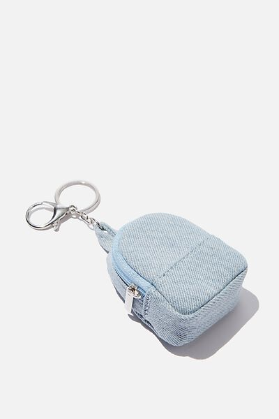 Bag Charm, PLUSH CHAMBRAY MINI BACKPACK