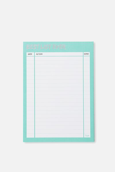 A5 Plan Ahead Planner, AQUA BEST LIST EVER