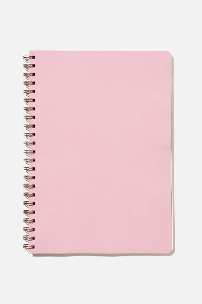 A4 Dot Daily Scribe Journal, PLASTIC PINK