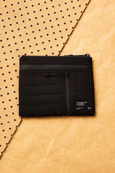 Utility Pencil Case, BLACK & GREY
