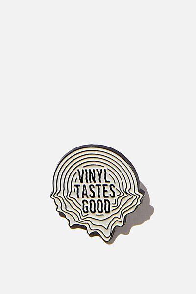 Enamel Badges, VINYL TASTES GOOD