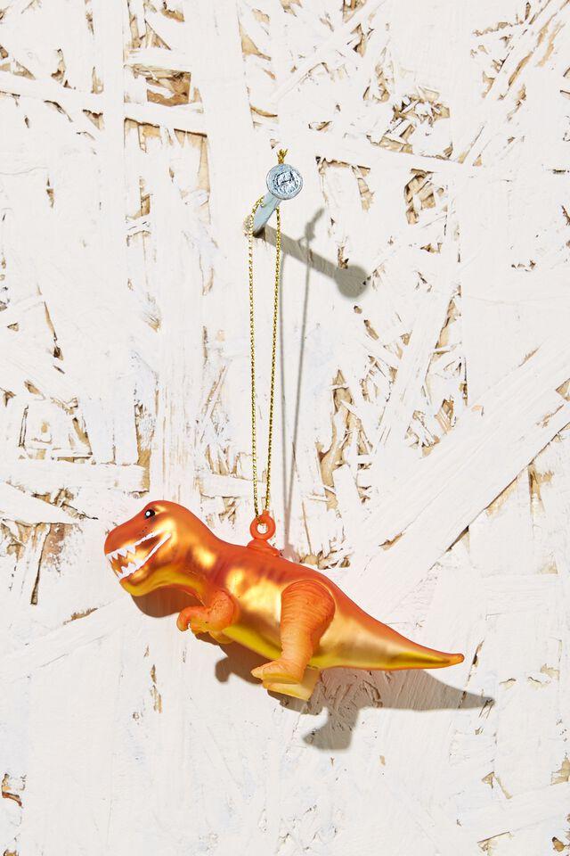 Small Glass Christmas Ornament, T-REX