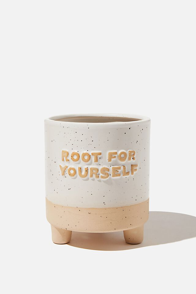 Midi Shaped Planter, ROOT FOR YOURSELF ECRU