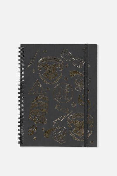 A5 Spinout Notebook - 120 Pages, LCN HOGWARTS PATCHES