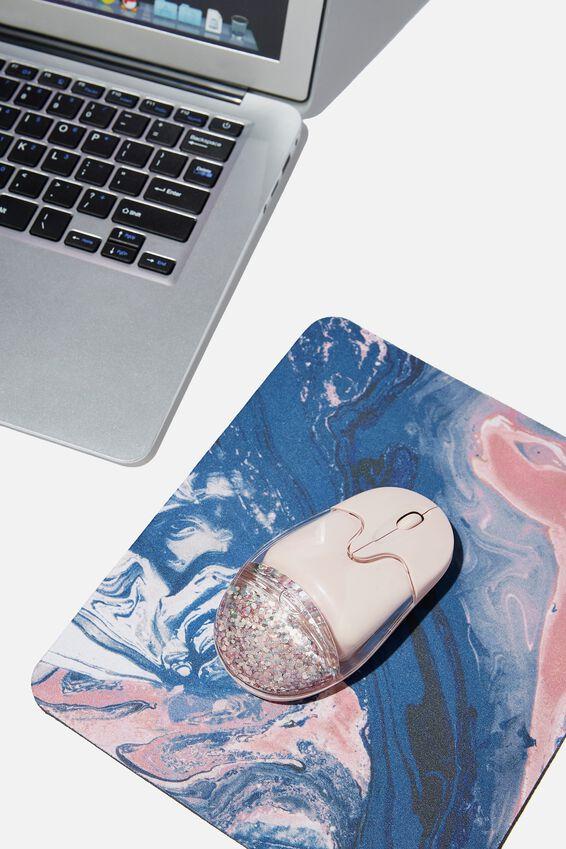 Shake It Wireless Mouse, PINK MULTI GLITTER