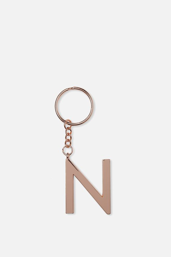 Alphabet Keyring, ROSE GOLD N