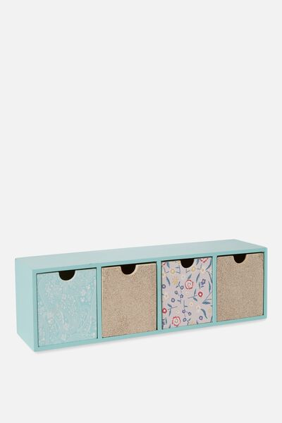 Quick Desk Drawer Storage, BOHO FLORAL