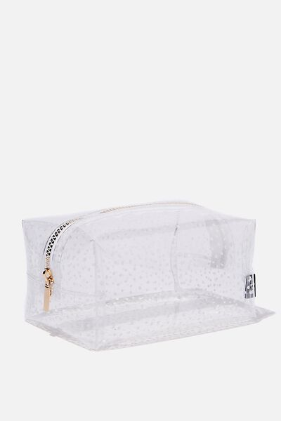 Brooklyn Pencil Case, CLEAR SPOT
