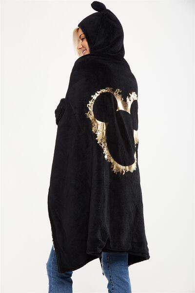 Novelty Hooded Blanket, LCN MICKEY