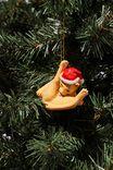 Resin Christmas Ornament, CAT LICKING BALLS!