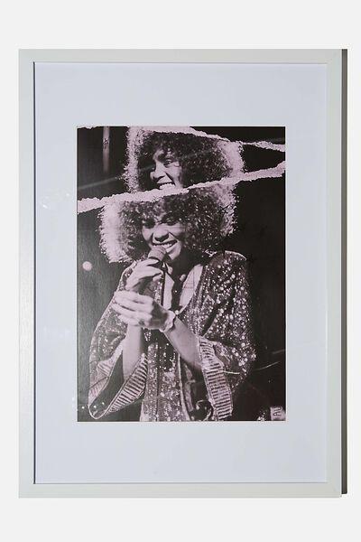A3 Framed Print, LCN ICO JANET MACOSKA WOMAN SINGING