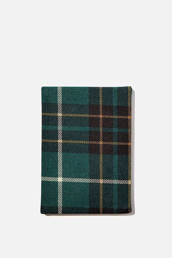 2021 A6 Oxford Weekly Diary, FLANNO GREEN CHECK