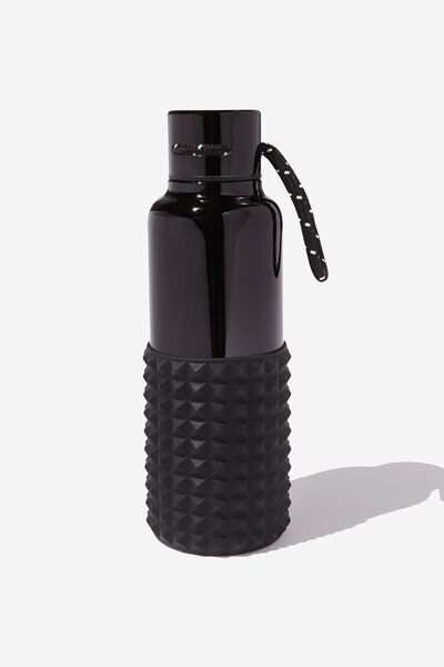 The Loop Metal Drink Bottle, BLACK SPIKEY