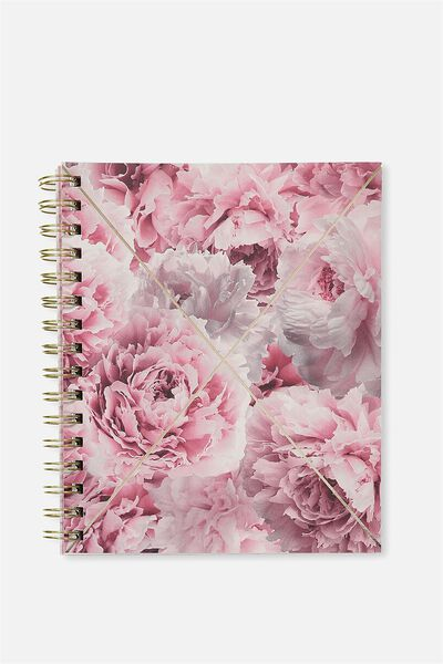 A5 Campus Notebook - 240 Pages, PINK FLORAL