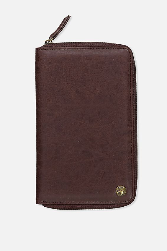 Rfid Odyssey Travel Compendium Wallet, RICH TAN