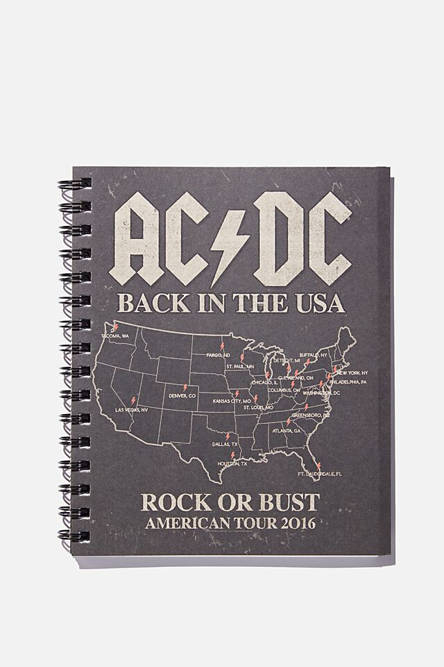 A5 ACDC Campus Notebook Recycled, LCN PER ACDC AMERICAN TOUR
