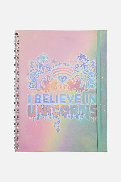 A4 Spinout Notebook - 120 Pages, LCN MY LITTLE PONY BELIEVE