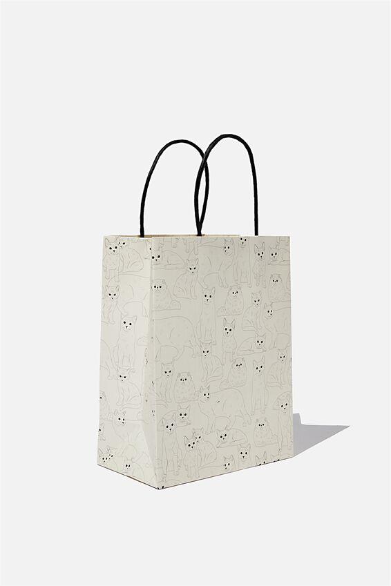 Get Stuffed Gift Bag - Small, CAT REPEAT