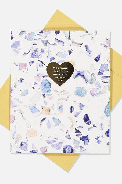 Nice Birthday Card, TERRAZZO AWESOME