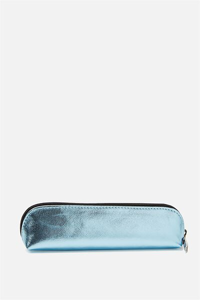 Buffalo Barrel Pencil Case, BLUE CROSS HATCH