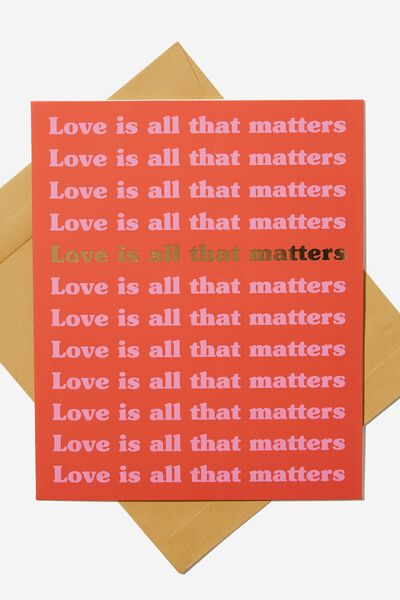 Love Card, LOVE MATTERS