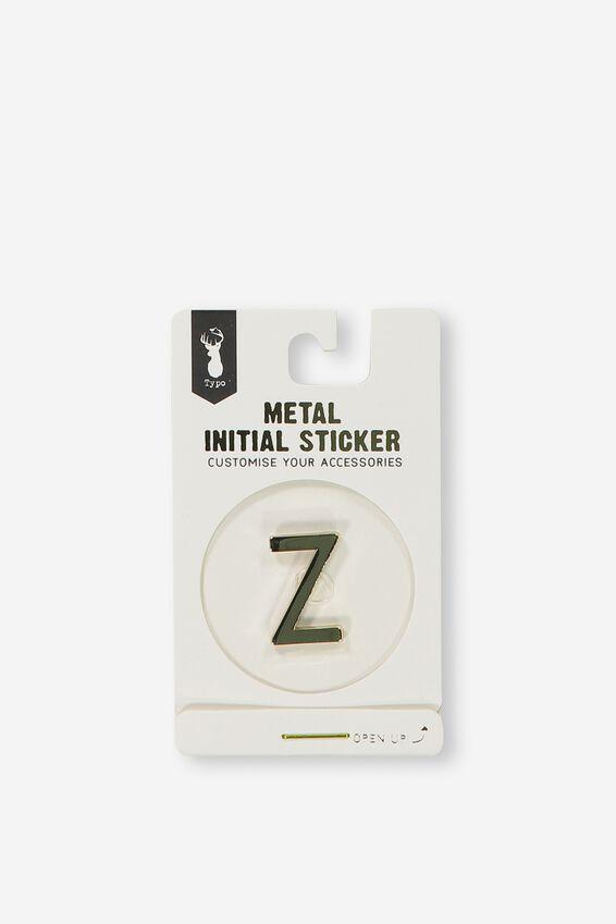 Metal Stickers, GOLD Z