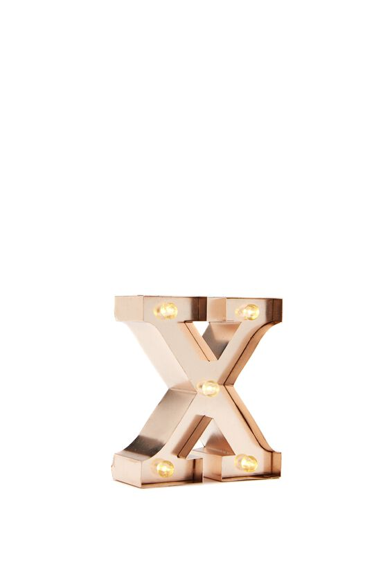 Mini Marquee Letter Lights 10cm, ROSE GOLD X