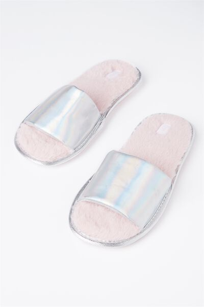 Slippers, HOLOGRAPHIC FUR