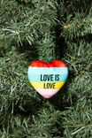 Resin Christmas Ornament, RAINBOW HEART
