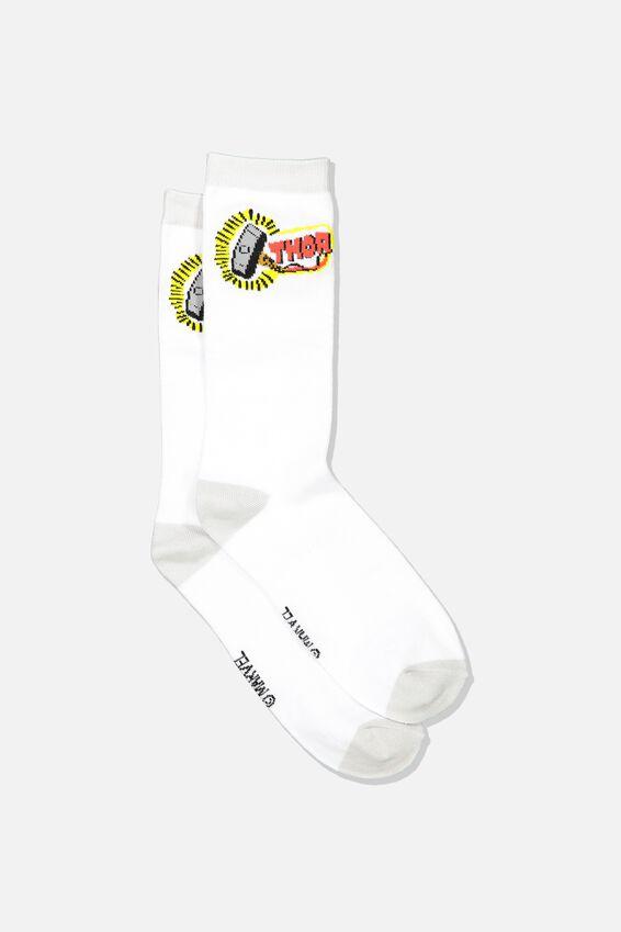 Marvel Mens Novelty Socks, LCN MAR THOR
