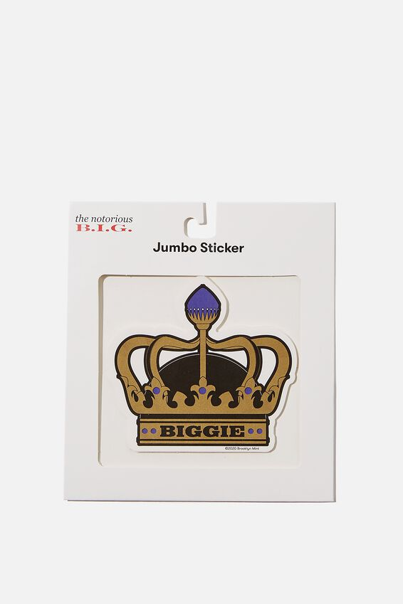 Biggie Smalls Jumbo Sticker, LCN MT BIG BIGGIE CROWN
