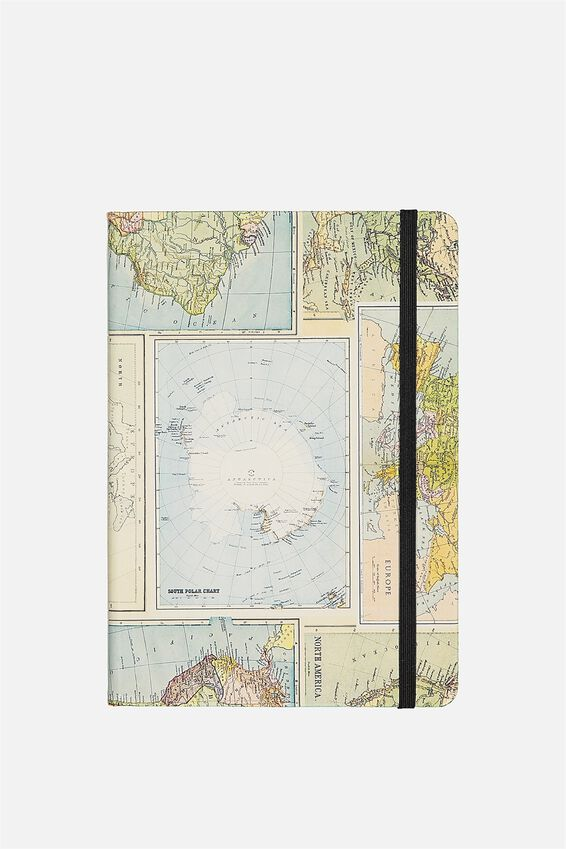 A5 Buffalo Journal, GRID WORLD MAP