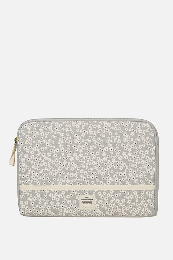 Take Me Away 11 Laptop Case, CHERRY BLOSSOM COOL GREY