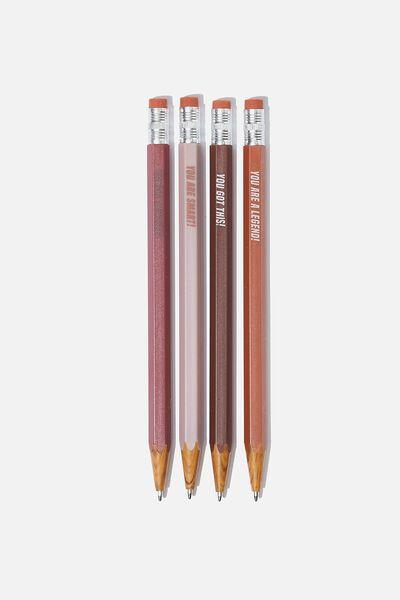 Pencil Pen Pack, POSITIVE QUOTES