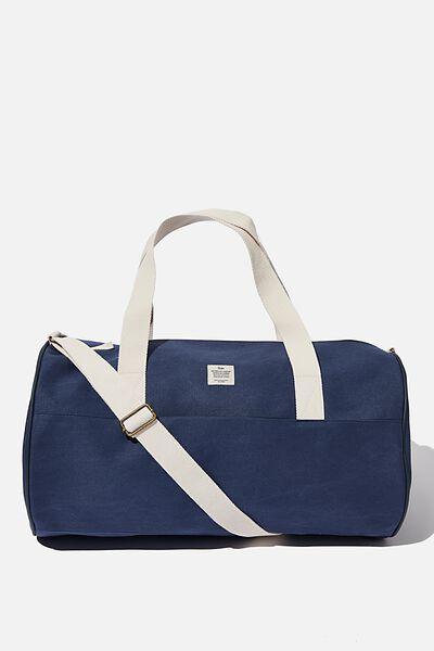 Canvas Barrel Bag, WASHED NAVY