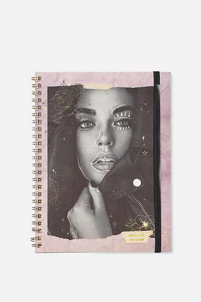 A5 Spinout Notebook - 120 Pages, FASH GIRL