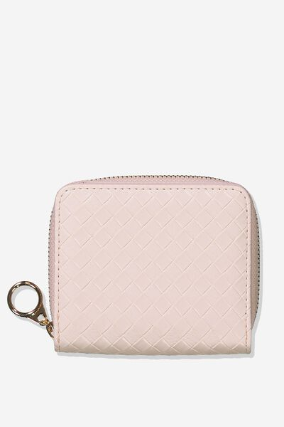 Mini Wallet, BLUSH WEAVE