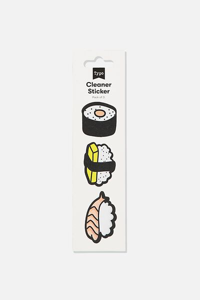 Cleaner Sticker, SUSHI