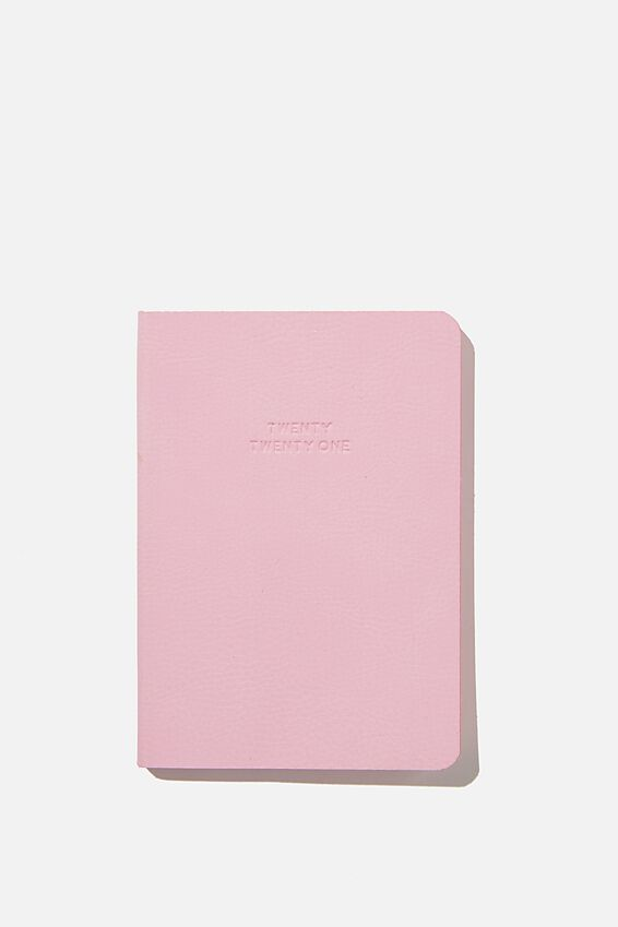 2021 Soft A6 Weekly Buffalo Diary, PLASTIC PINK