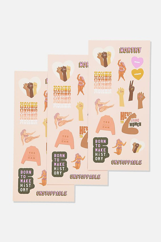 Sticker Pack, WOMEN WOMEN WOMEN