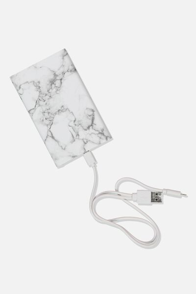 Printed Charge It Charger, MARBLE