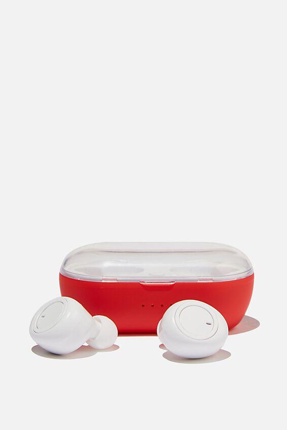 Wireless Earbuds, TRUE RED