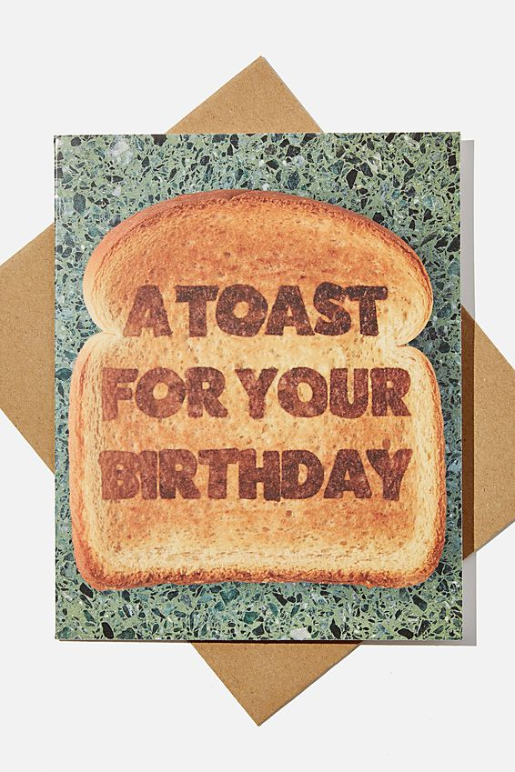 Premium Funny Birthday Card, SCENTED TOAST FOR YOUR BIRTHDAY
